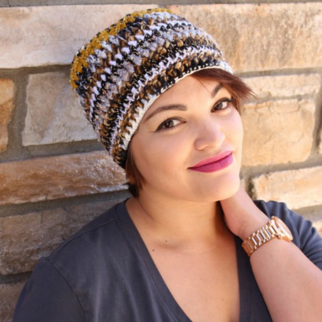 free crochet hat pattern - scrap hat