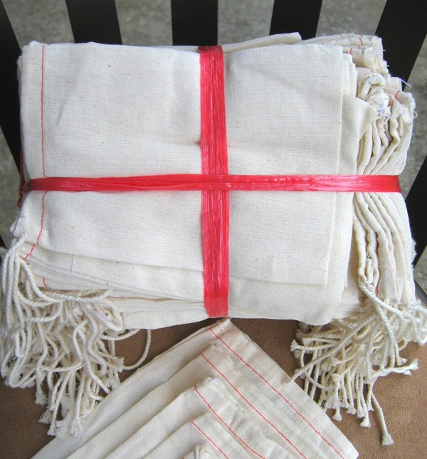 my favorite craft supplies - muslin bags