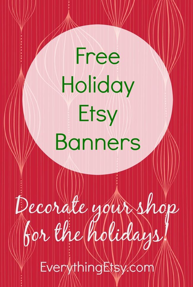 Free Holiday Etsy Banners on EverythingEtsy.com