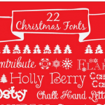 22 Christmas Fonts {free}