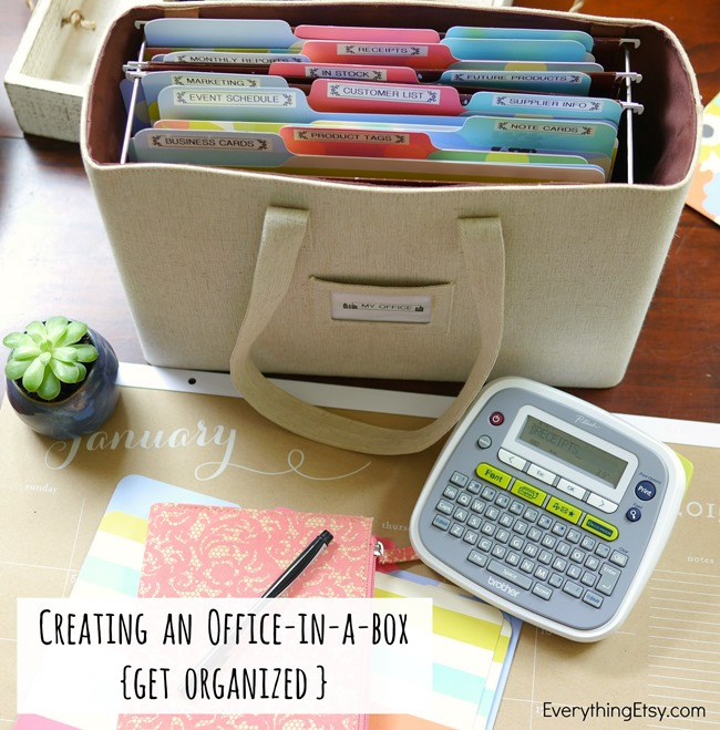 Creating An Office-in-a-Box {Get Organized