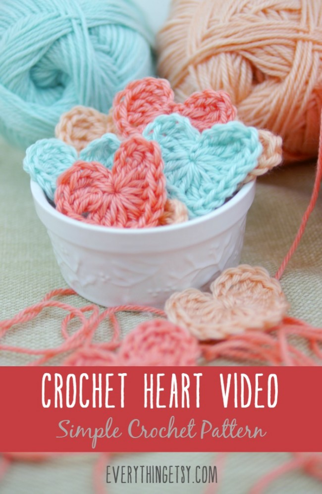 Crochet Heart Video {Free Crochet Pattern} - EverythingEtsy.com