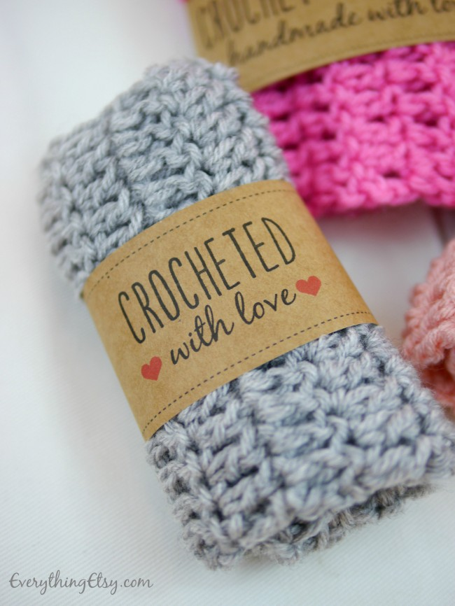 Crocheted With Love Printable Label on EverythingEtsy.com