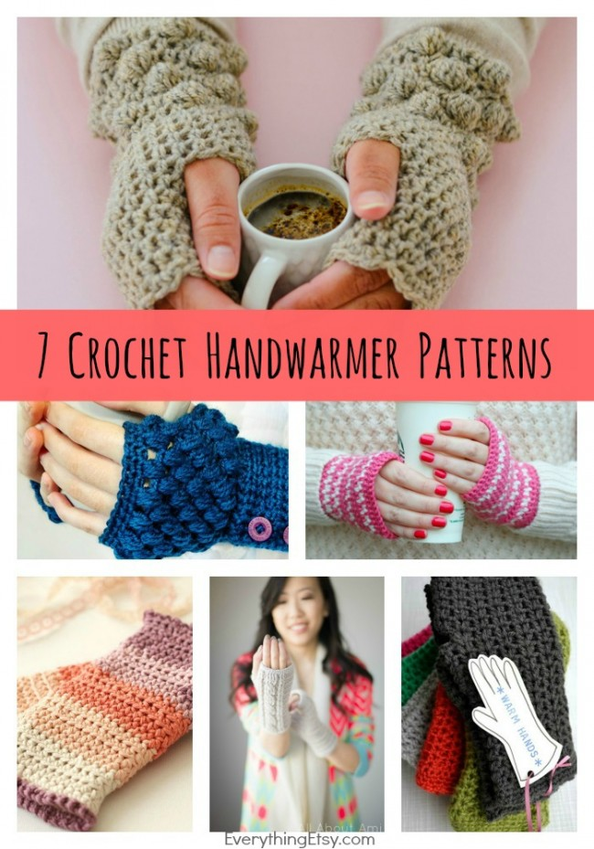 Crochet Patterns I Can Make And Sell : DIY Crochet Handwarmer Patterns {7 Free Designs}