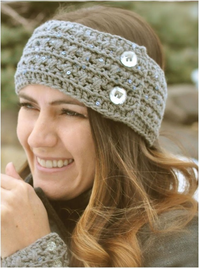 Free Crochet Patterns For Wide Headbands : Free Crochet Pattern Lacey Headband Rachael Edwards
