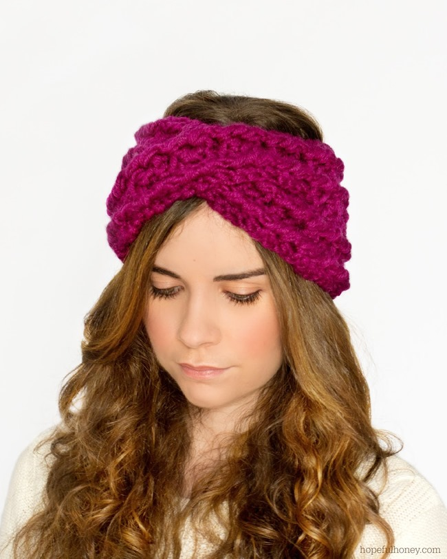DIY crochet criss cross headband pattern