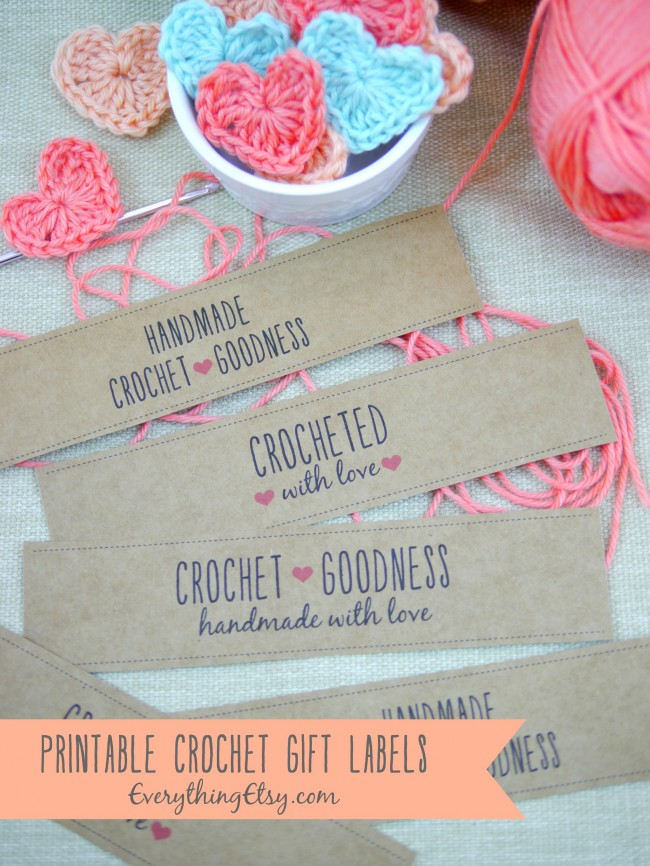 Free Printable Crochet Gift Labels On EverythingEtsy