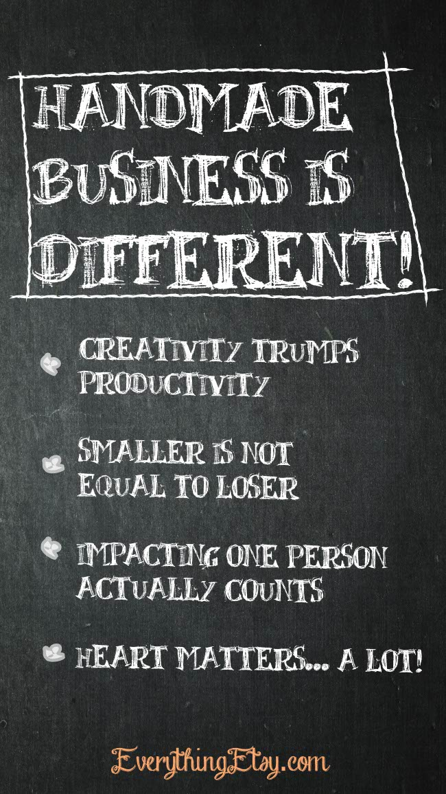 Handmade Business Is Different