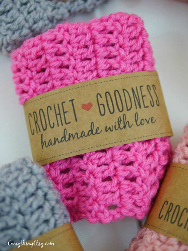 Handmade with love printable label on EverythingEtsy.com