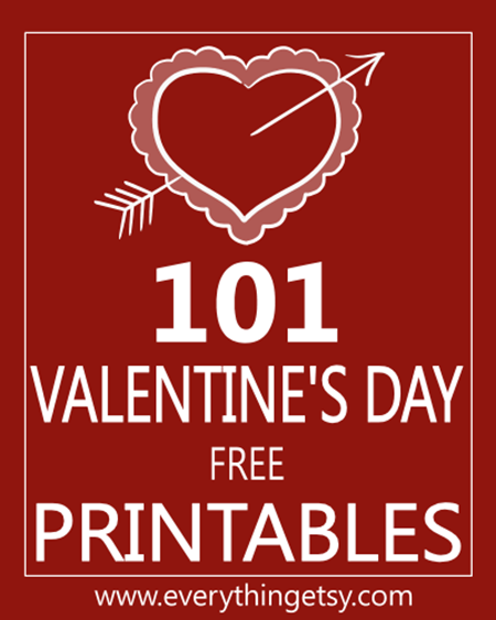 graphic about Happy Valentines Day Printable identified as 101 Valentines Working day Printables cost-free -