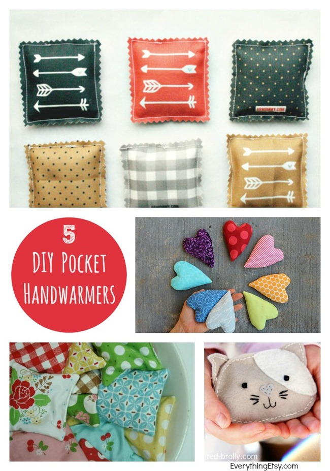5 DIY Pocket Handwarmers l Sewing Tutorials l EverythingEtsy.com