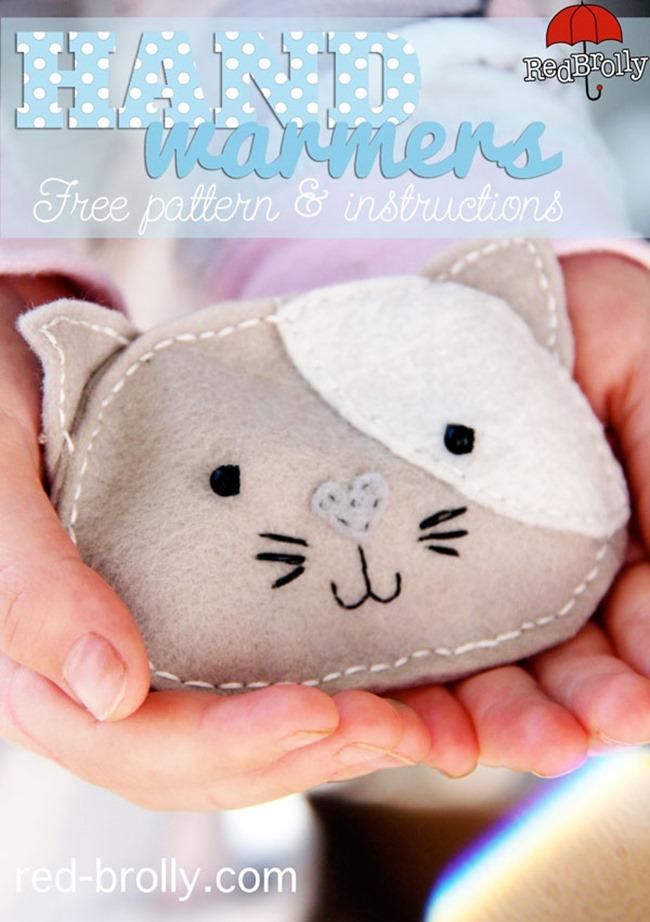 DIY Pocket Handwarmer Tutorial - Cat