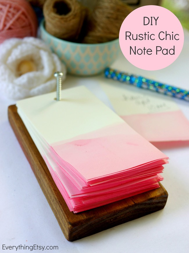 Diy rustic chic note pad everythingetsy malvernweather Image collections