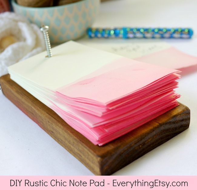 DIY Rustic Chic Note Pad on EverythingEtsy.com