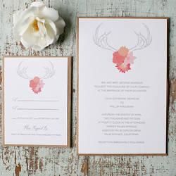 antlers free printable wedding invitation suite - Printable Wedding Invitation