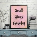 Small Steps Everyday - Quote - Free Printable - EverythingEtsy.com