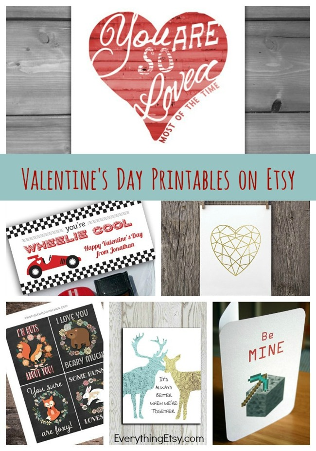 Valentine's Day Printables on Etsy - Downloads
