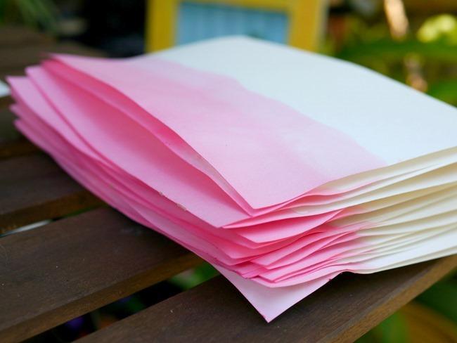 dip dye paper diy