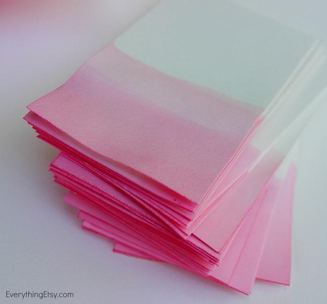 dyed paper diy