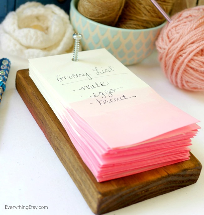 how to make a rustic note pad