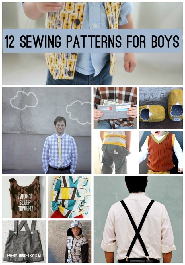 12 Sewing patterns for Boys on EverythingEtsy.com