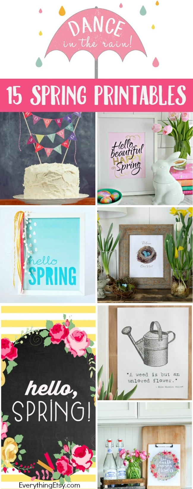 15 Free Spring Printable - DIY home awesomeness! - EverythingEtsy.com
