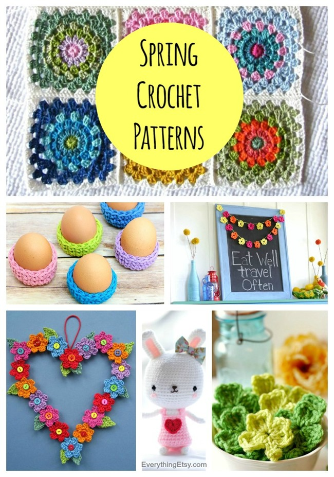 7 Spring Crochet Patterns - Lots of Free Designs on EverythingEtsy.com