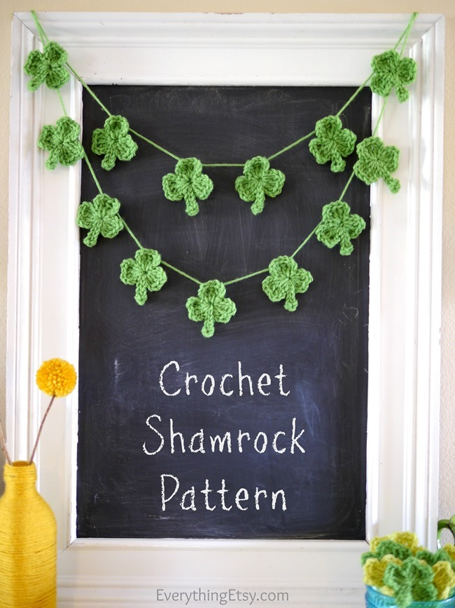 DIY Crochet Shamrock Patterns on EverythingEtsy.com