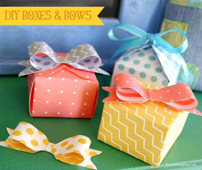 DIY Boxes and Bows - We R Memory Makers Punch