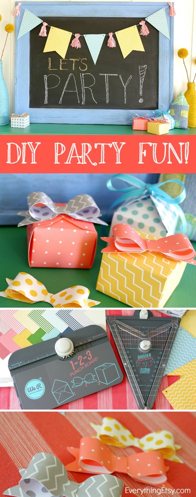 DIY Party Banner and Bow Punch - We R Memory Makers - EverythingEtsy.com
