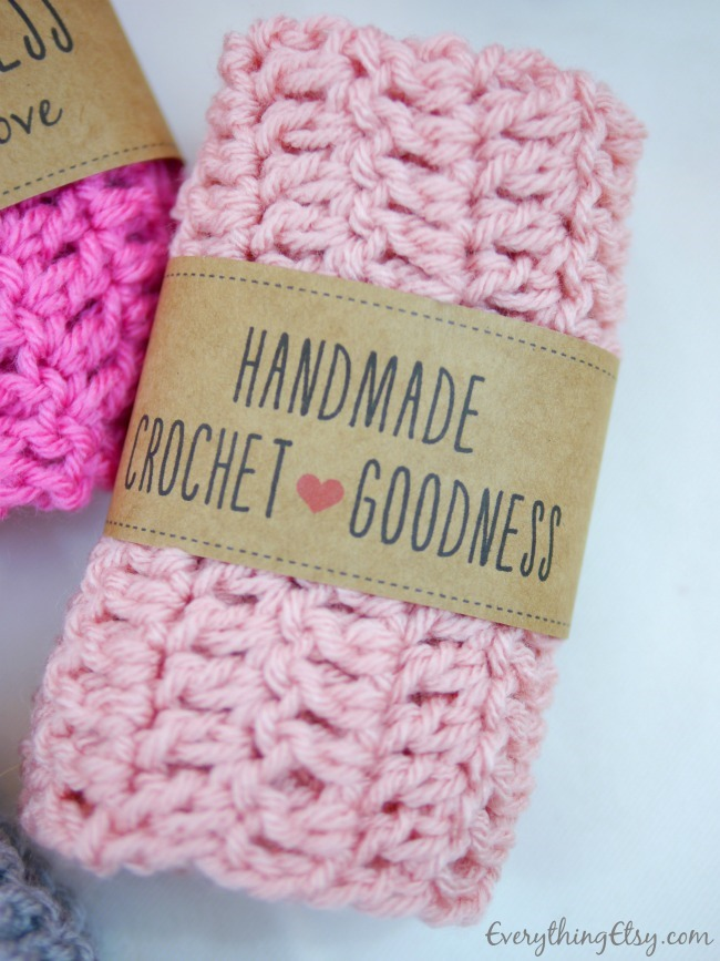 Free Printable Crochet Patterns : Free Printable Crochet Gift Tag on EverythingEtsy.com