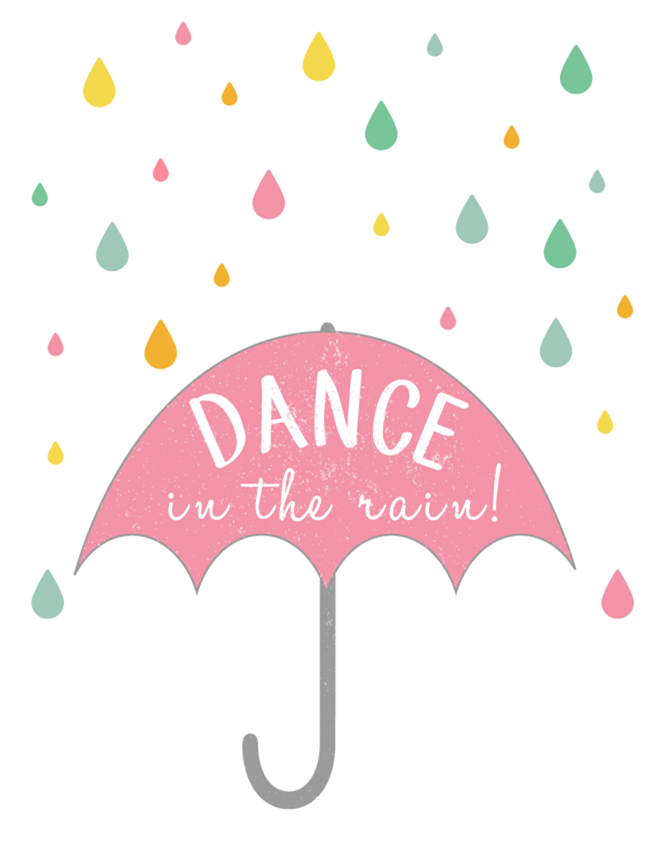 Free Spring Printable - Dance in the Rain