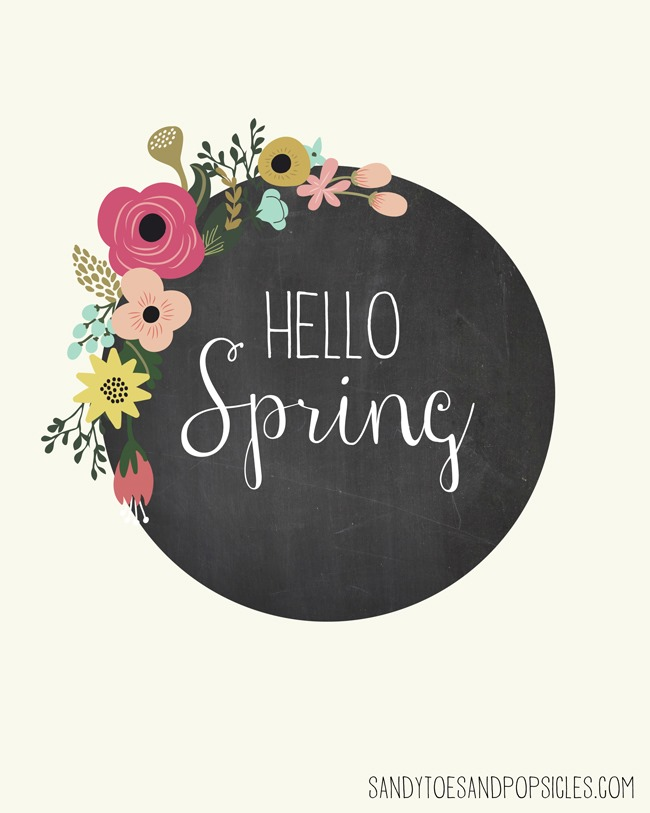 Free Spring Printables - chalkboard