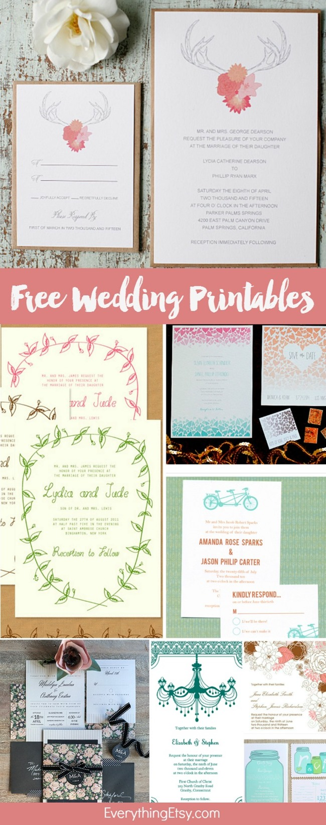 Free Wedding Printables - Invitations - DIY Weddings on EverythingEtsy.com
