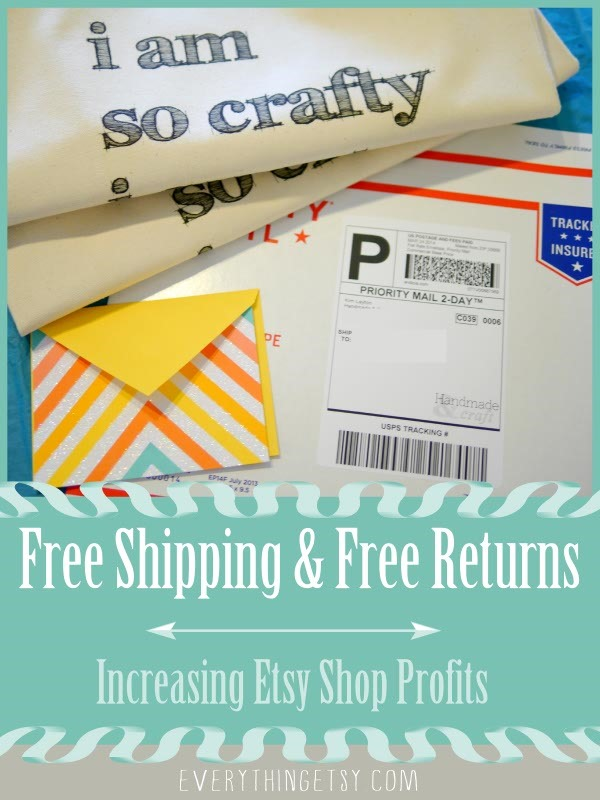 Free Shipping and Free Returns Etsy Profits