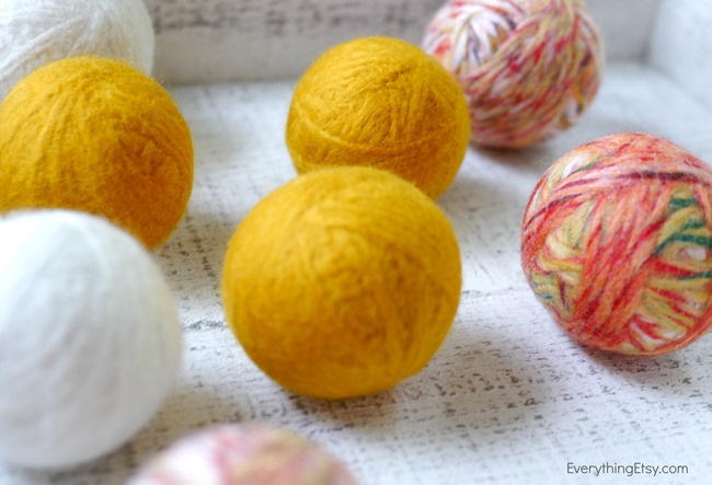 Homemade Wool Dryer Ball Tutorial on EverythingEtsy.com