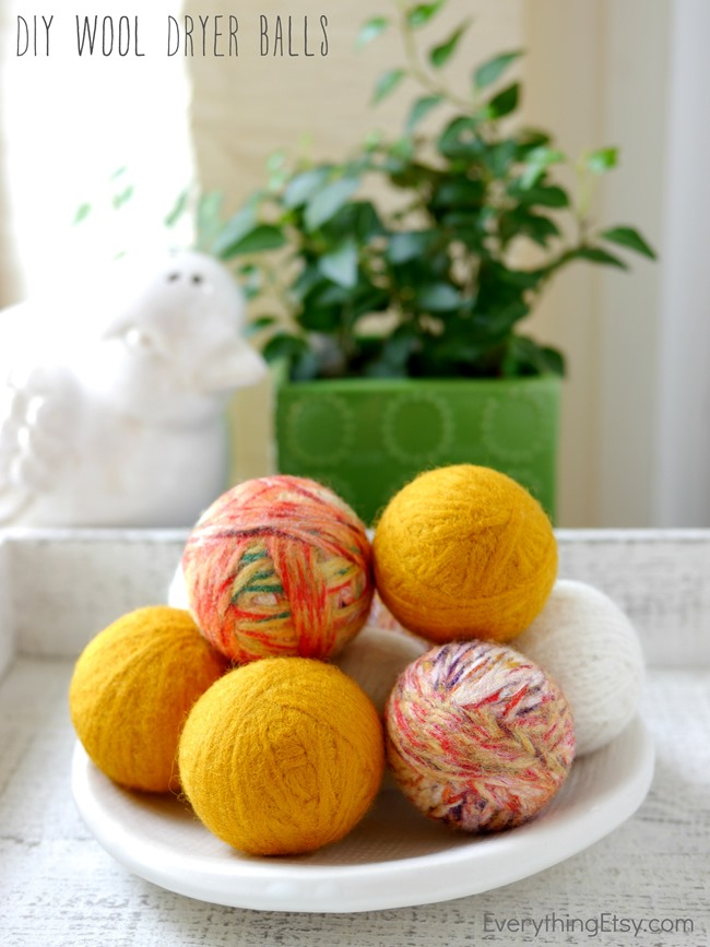 Make Wool Dryer Balls - Tutorial on EverythingEtsy.com