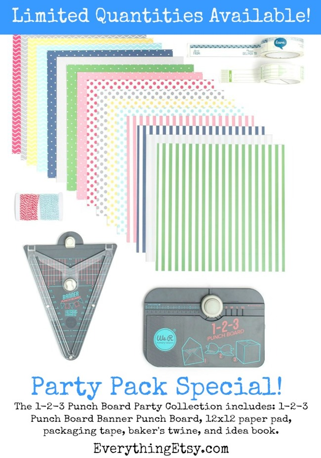 Punch Board Party Collection Special - Limited quantities available on this crazy deal!  EverythingEtsy.com