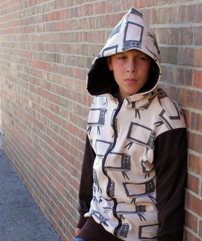 Sewing Patterns for Boys - Hoodie