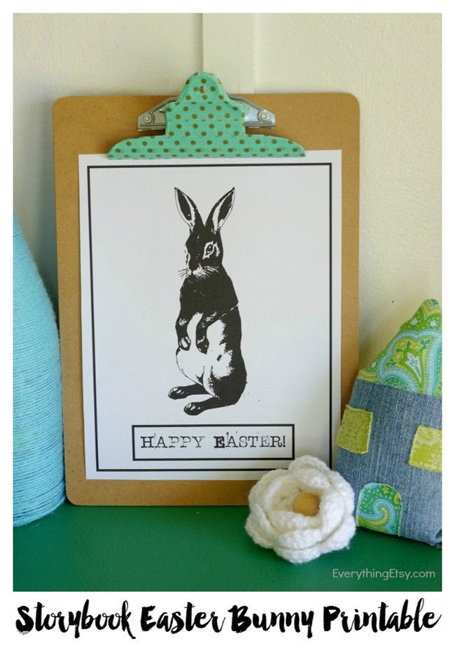 Vintage Storybook Easter Bunny Free Printable on EverythingEtsy.com