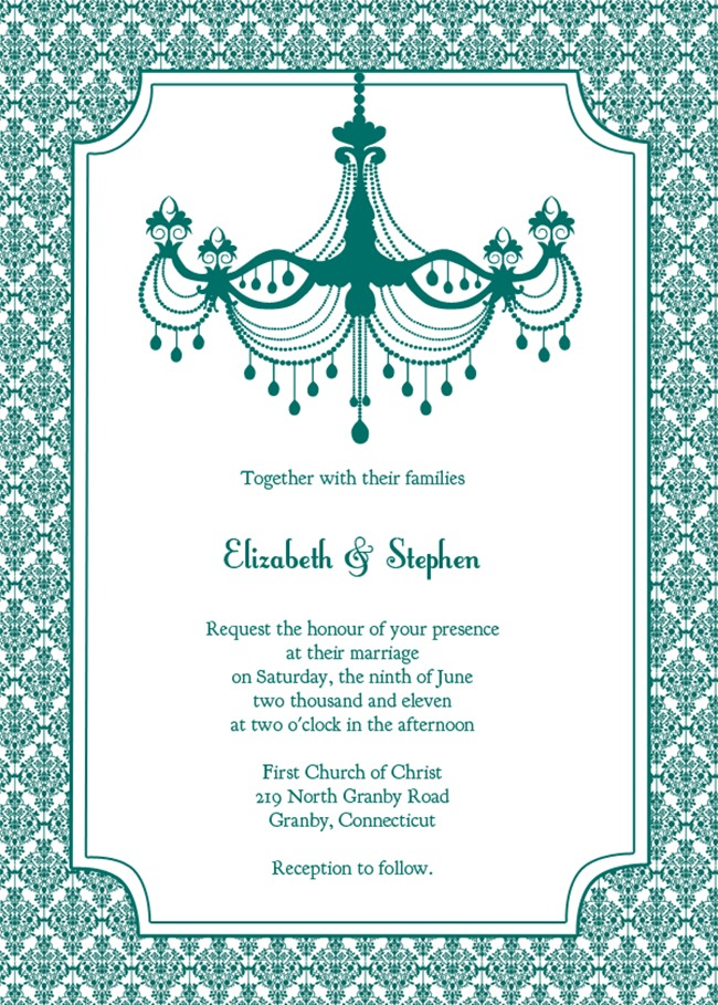 free DIY Wedding Invitation Printable - elegant
