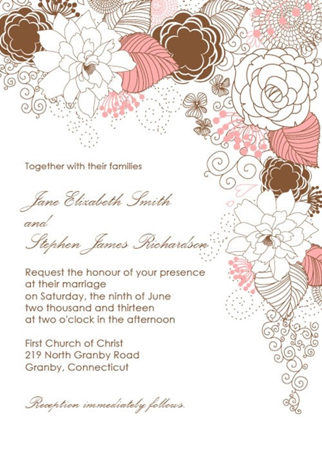 Printable Wedding Invitation Kits Free
