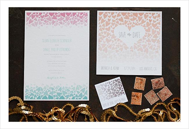 free diy wedding invitation printable - ombre