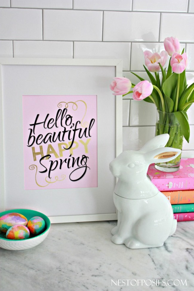 free spring printable - beautiful