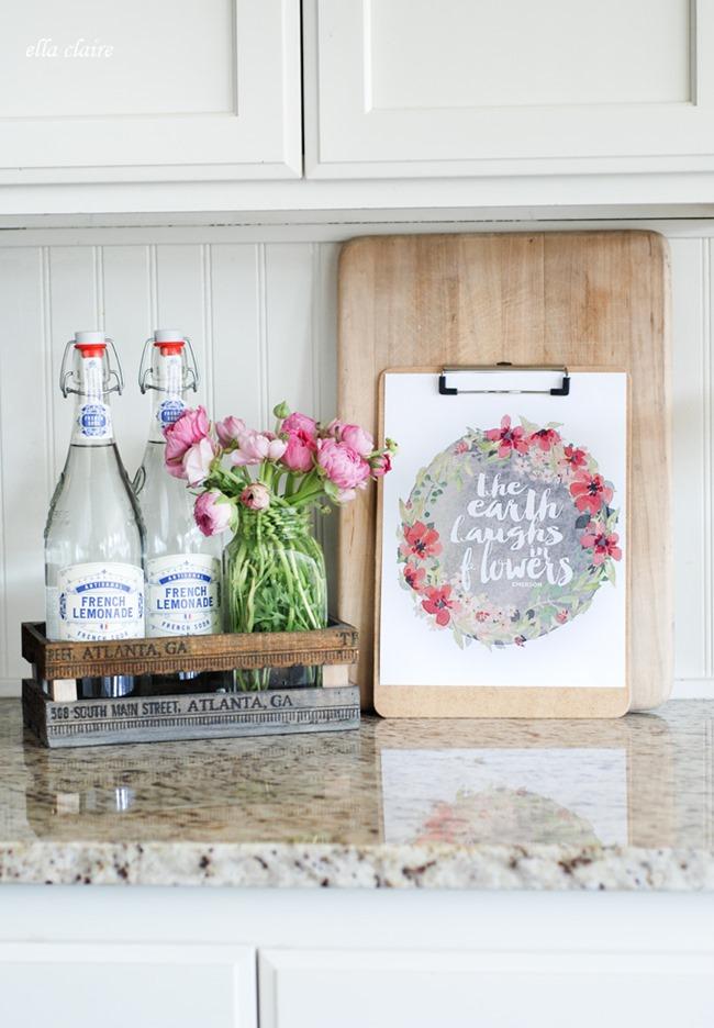 free spring printable - flowers
