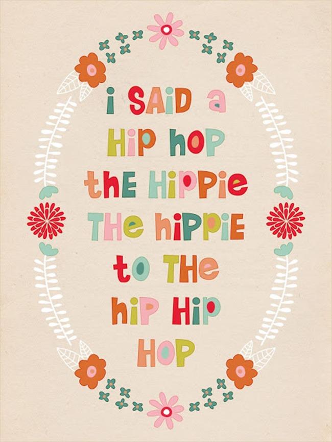 free spring printable - hip hop