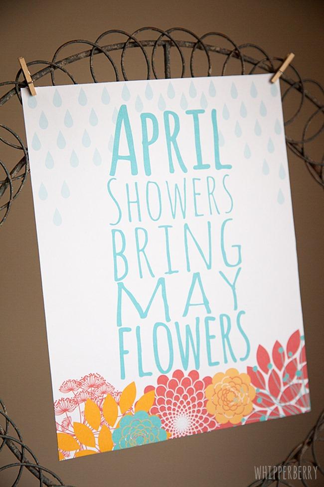 free spring printable - may flowers