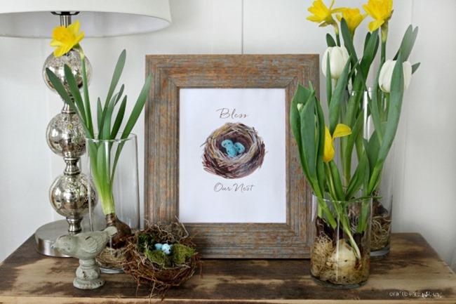 free spring printable - nest