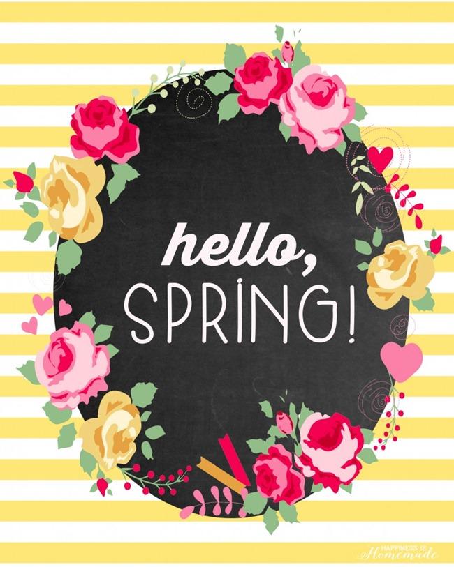 free spring printable - yellow
