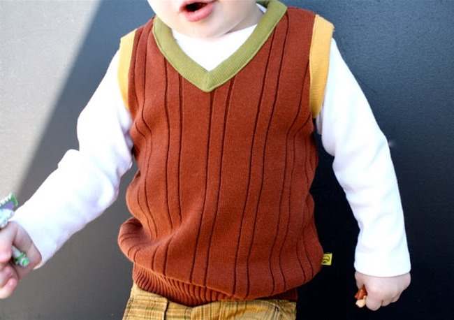 sewing patterns for boys - sweater vest